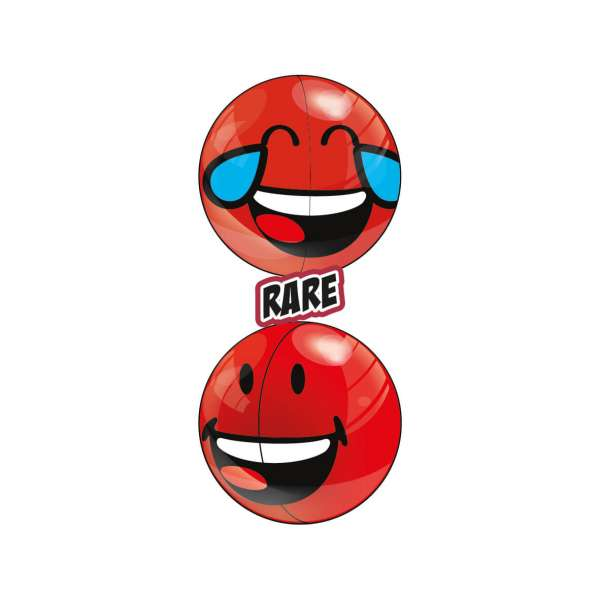 Two Red Rare Smiley Halves