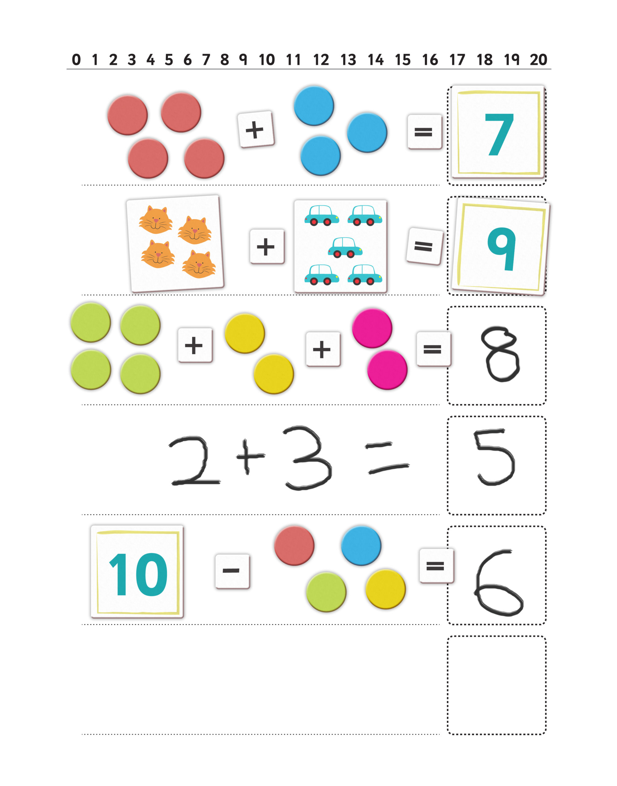 First maths sum board scaled