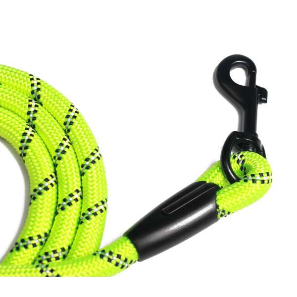 Reflective rope lead