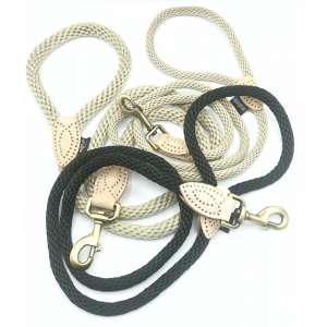 Three rope leads for dogs