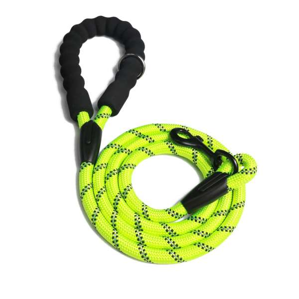 Reflective rope dog lead