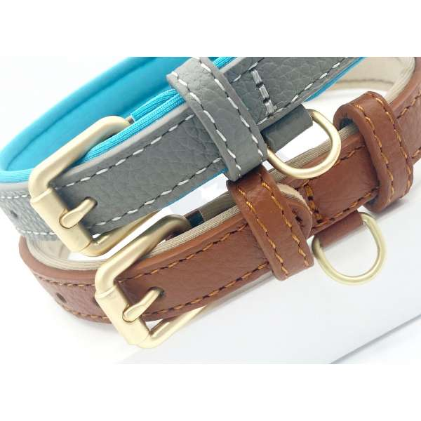 Two leather dog collars