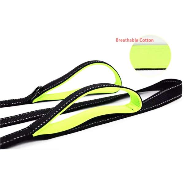 Reflective dog lead handles
