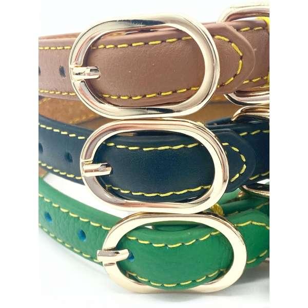 Three leather dog collars